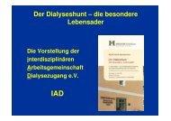 Die IAD - Dialyseshunt