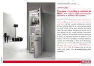 Nouveaux réfrigérateurs combinés de Miele : une vague d'idées ...