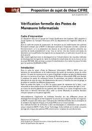 Proposition de sujet de thèse CIFRE Vérification formelle ... - ANRT