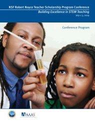 View 2009 Conference Program - The Robert Noyce Scholarship ...