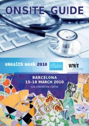 15–18 MARCH 2010 BARCELONA - World of Health IT