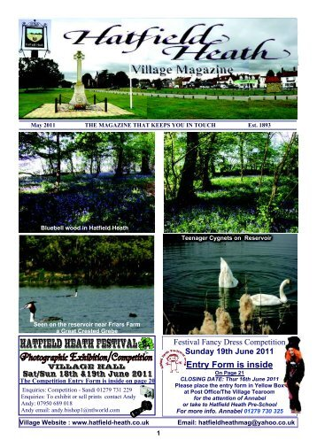 May2011 Edition - Hatfield Heath Village Magazine