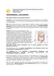 Teil-Coloskopie - Gastroenterologische Gemeinschaftspraxis Herne