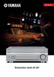 Wzmacniacz stereo AX-397 - AUDIO KLAN