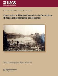 Construction of shipping channels in the Detroit River - Great Lakes ...