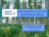 Multi-pollutant Control for Small Biomass Boilers - MARAMA