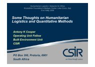 Some Thoughts on Humanitarian Logistics and Quantitative Methods