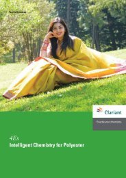 4Es Intelligent Chemistry for Polyester - Clariant