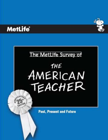 MetLife Survey of the American Teacher: Past, Present and Future