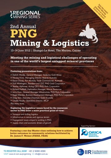 2nd Annual PNG Mining & Logistics - Tradelinked Cairns and Png