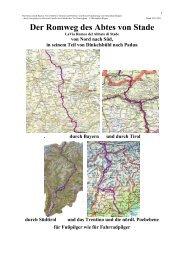 Der Pilgerweg Via Romea von Dinkelsbühl bis Nördlingen