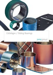 Glidelagre / Sliding Bearings - PMC Group