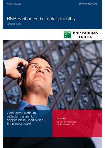 BNP Paribas Fortis metals monthly - Virtual Metals