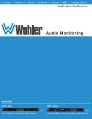 Audio Monitoring - Wohler Technologies