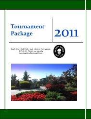 Tournament Package Tournament - Beach Grove Golf Club