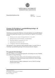 Principer för fördelning av grundutbildningsanslaget vid ...