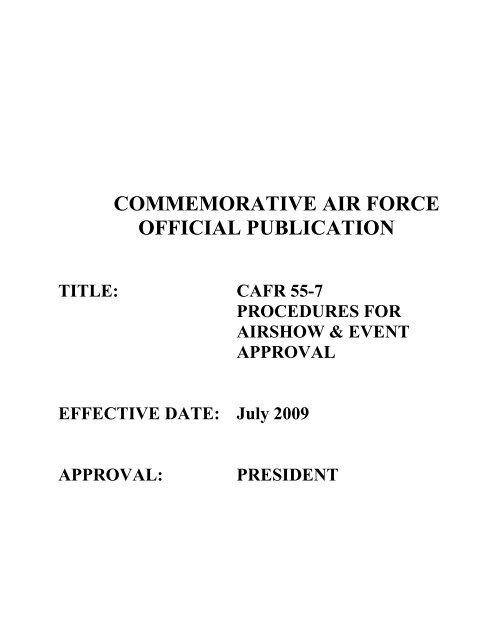 commemorative air force official publication - Contrails.us