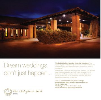 View our Wedding Brochure - Principal Hayley