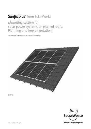Delivery program for solar mounting system dt 1 alumero solarworld mounting system for solar power systems solarworld ag sciox Image collections