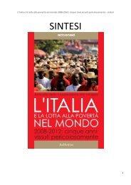 L'Italia e la lotta alla povertà nel mondo- SINTESI - ActionAid