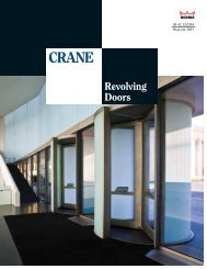 Crane Revolving Doors - RTI Hotel Supply