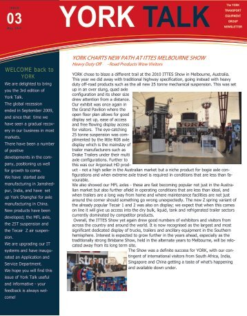 YorkTALK Newsletter Issue 3 - York Transport Equipment
