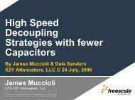 High Speed Decoupling Strategies with fewer ... - X2Y Attenuators