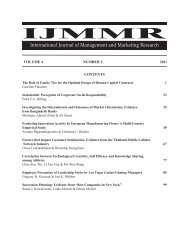 ijmmr - The Institute for Business and Finance Research (IBFR)