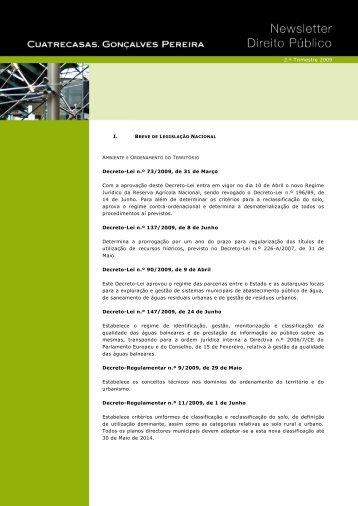 I. Decreto-Lei n.º 73/2009, de 31 de Março Com a ... - Cuatrecasas