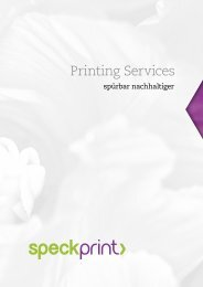 Printing Services - Speck Print AG