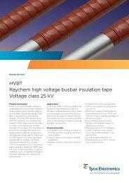 HVBT Raychem high voltage busbar insulation tape Voltage class ...