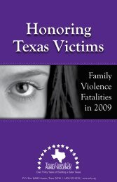 Honoring Texas Victims - Texas Council on Family Violence