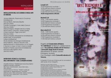 ALLEGATO: Pieghevole - Conservatorio di Verona