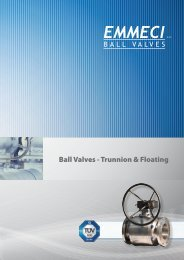 features floating fb - EMMECI Ball valves