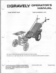 Rotary Plow (New Style) Operator's Manual - Gravely Tractor Club
