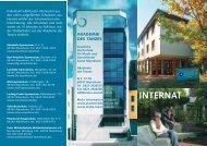 internat - Staatliche Hochschule für Musik und Darstellende Kunst ...