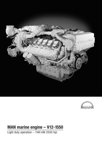 MAN marine engine – V12-1550