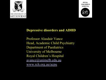 Biological underpinnings of ADHD and depressive disorders