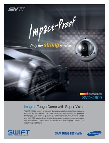 Samsung SVD-4600 Vandal-Proof Dome Camera - Swift Alarms