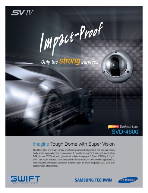 Samsung SVD-4300-10x Outdoor D-N Vandalproof Dome Camera