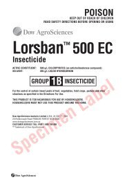 Lorsban 500 EC Insecticide Label - Agsure