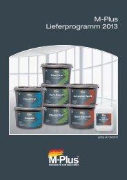 Lieferprogramm 2013 M-Plus Farben - Wässa & Schuster