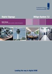 Digital Signage DiSign-System 7.2 - Guntermann und Drunck GmbH
