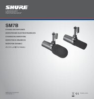 Shure SM7B Microphone Specification Sheet - Sweetwater.com