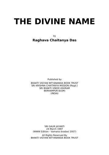 The Divine Name - Srila Bhakti Vaibhava Puri Maharaja