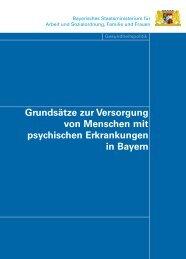 Grundsätze zur Versorgung von Menschen mit ... - Bayern