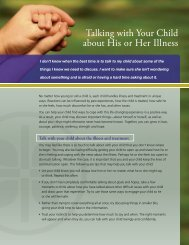Talking with Your Child about His or Her Illness - Caring Connections