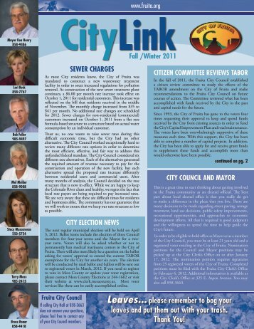 Winter 2011/2012 Edition - City of Fruita