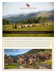 In rugged Montana ranchland southeast of Missoula, lies The Ranch ...
