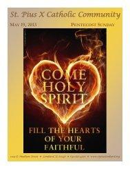 May 19 - St. Pius X Catholic Community
